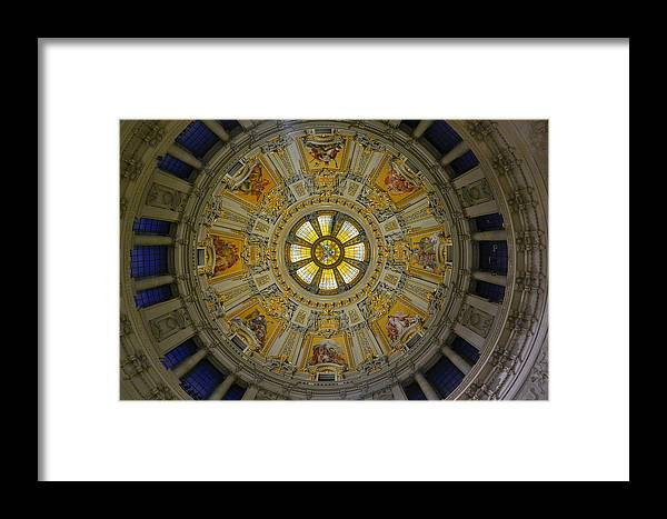 Berlin Cathedral Framed Print featuring the photograph Ceiling Of The Berlin Cathedral by Two Small Potatoes