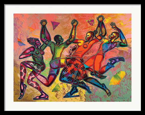 Figurative Framed Print featuring the painting Celebrate Freedom by Larry Poncho Brown
