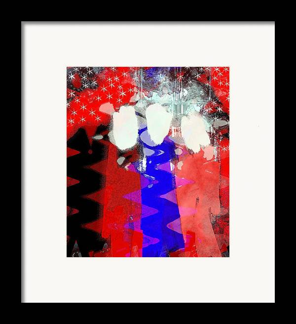 4th Of July Framed Print featuring the painting Celebration 3 by Mimo Krouzian