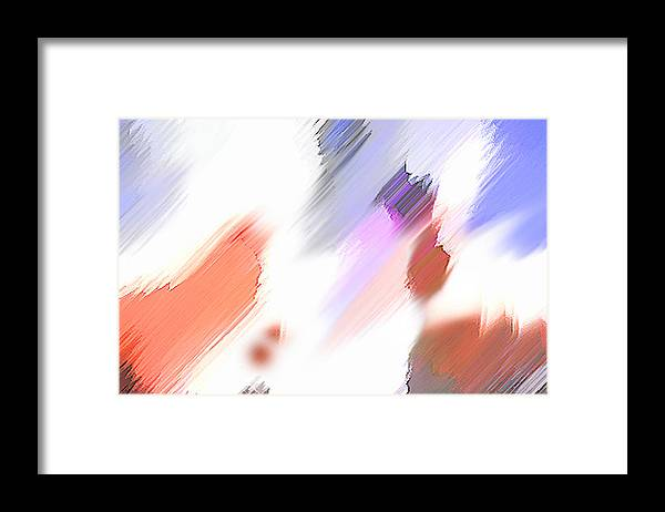 Digital Art Water Color Watercolor Light Color Framed Print featuring the painting Celebration by Anil Nene