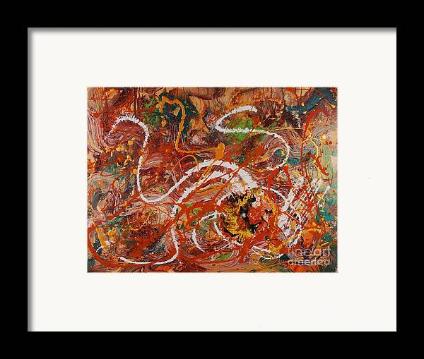 Orange Framed Print featuring the painting Celebration II by Nadine Rippelmeyer