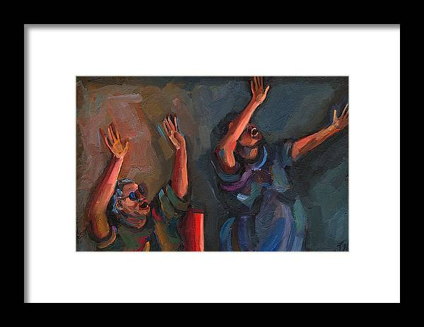 Spirit Filled Framed Print featuring the painting Celebration by Jackie Merritt