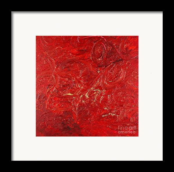 Red Framed Print featuring the painting Celebration by Nadine Rippelmeyer