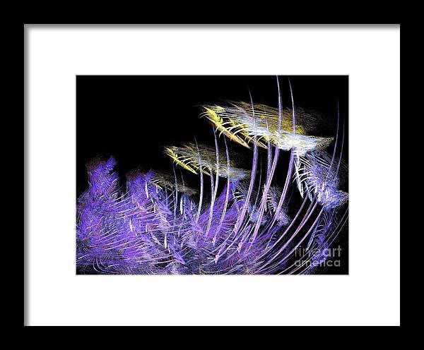 Digital Framed Print featuring the digital art Celestial Flowers by Thomas Smith