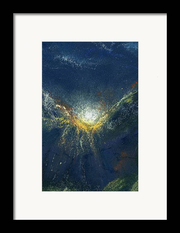 Landscape Framed Print featuring the painting Celestial by Marilyn Barton