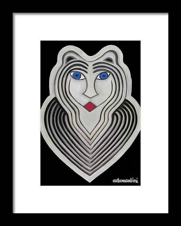 Tiger Framed Print featuring the painting Celestial Woman by Adamantini Feng shui