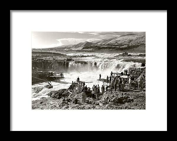 Framed Print featuring the photograph Celilo Falls by Unknown