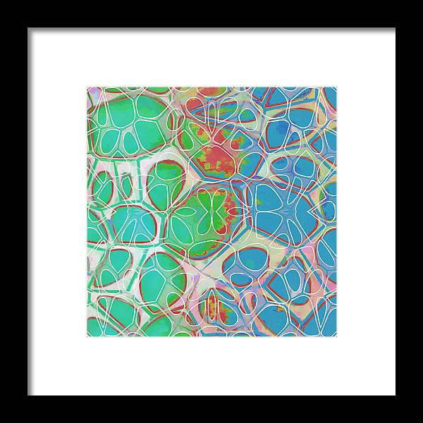 Painting Framed Print featuring the painting Cell Abstract 10 by Edward Fielding