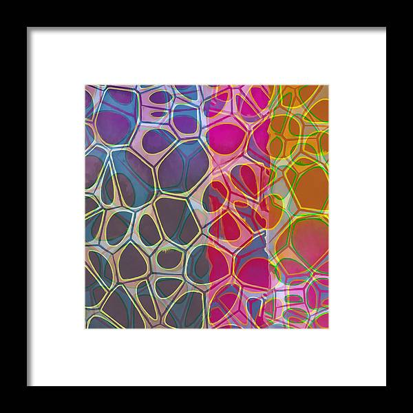 Painting Framed Print featuring the painting Cell Abstract 11 by Edward Fielding