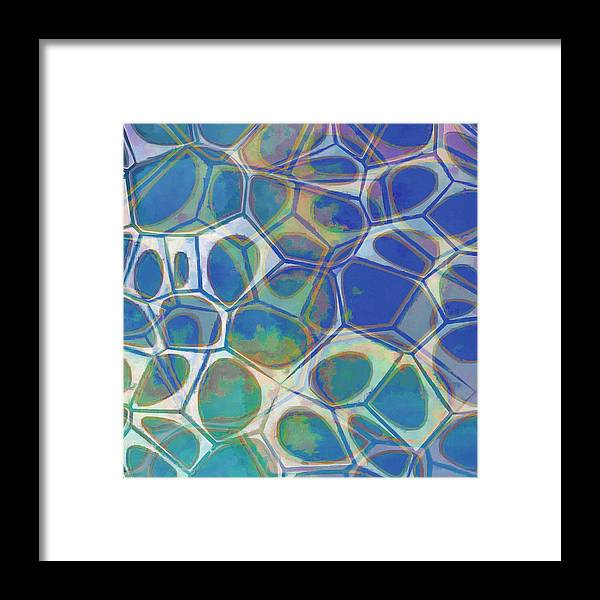Painting Framed Print featuring the painting Cell Abstract 13 by Edward Fielding