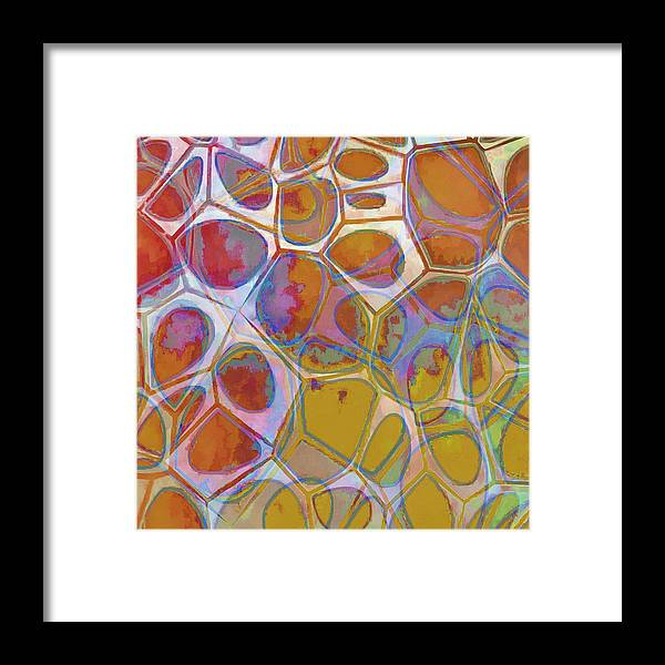 Painting Framed Print featuring the painting Cell Abstract 14 by Edward Fielding