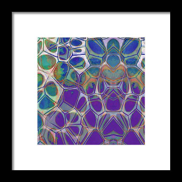 Painting Framed Print featuring the painting Cell Abstract 17 by Edward Fielding
