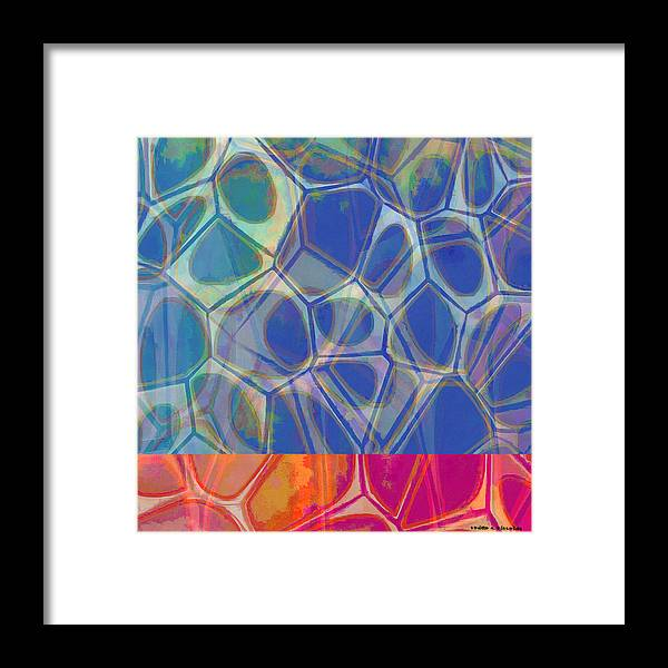 Painting Framed Print featuring the painting Cell Abstract One by Edward Fielding