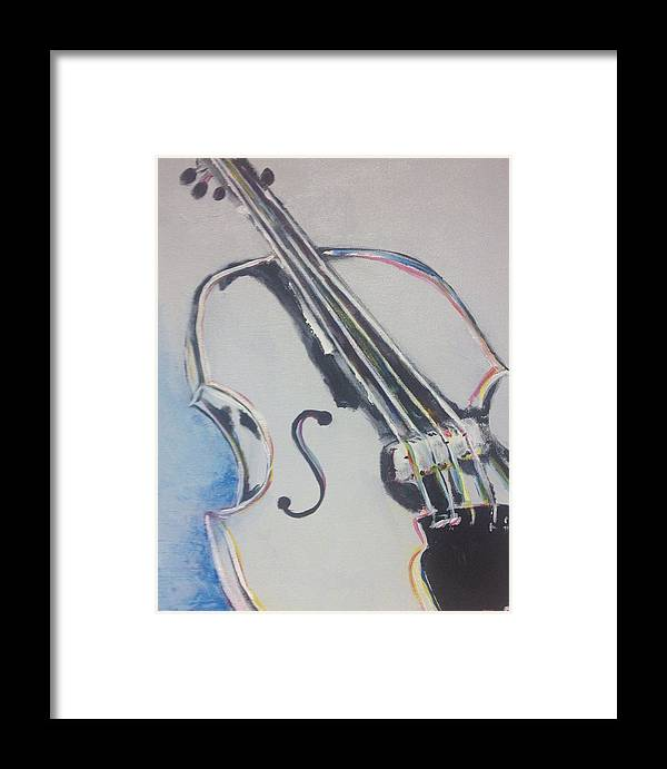 Cello Framed Print featuring the painting Cello by Jennifer Whitworth