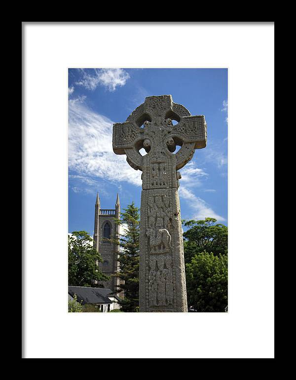 Celtic Framed Print featuring the photograph Celtic Cross by Pierre Leclerc Photography