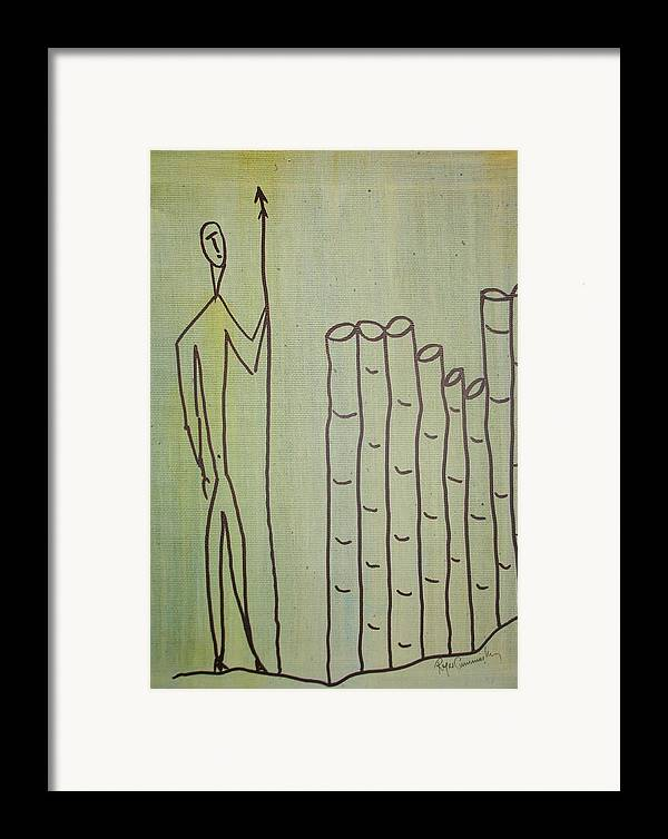 Figures Framed Print featuring the painting Celtic Warrior by Roger Cummiskey