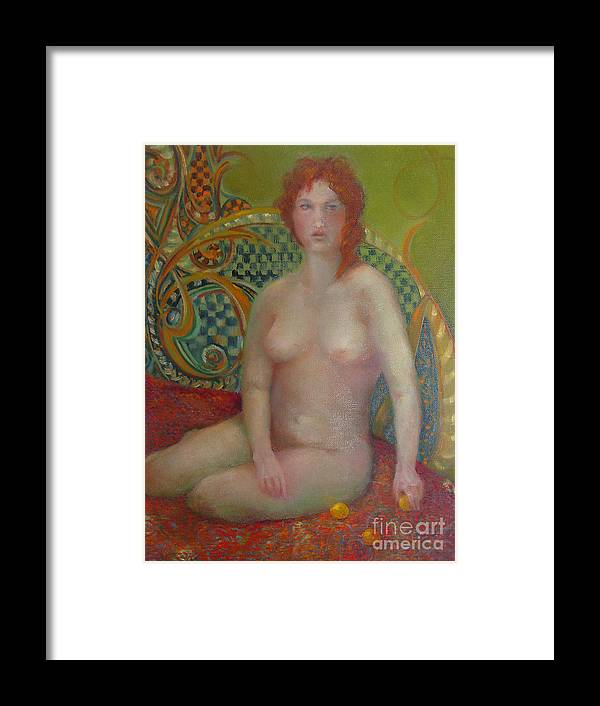 Contemporary Figure Framed Print featuring the painting Celtic Woman Copyrighted by Kathleen Hoekstra