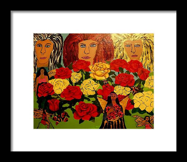 Celtic Framed Print featuring the painting Celtic Womens Reunion by Betty J Roberts