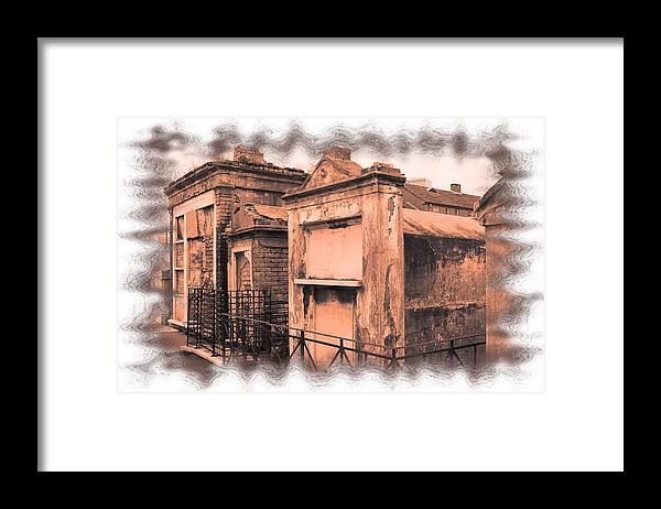 New Orleans Framed Print featuring the photograph Cemetary Row by Linda Kish