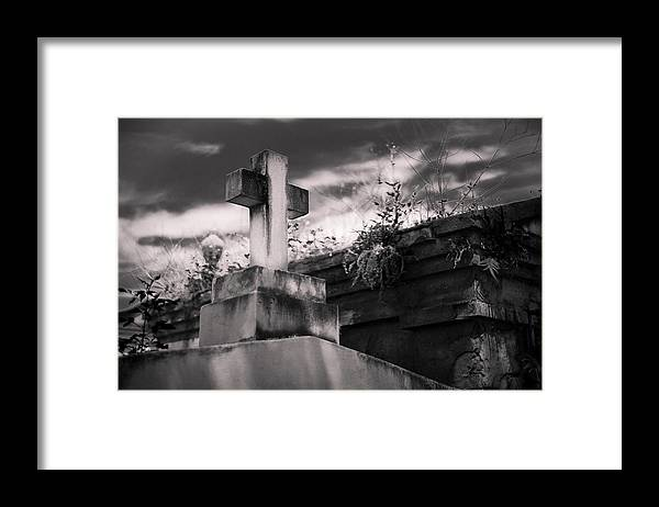 Big Easy Framed Print featuring the photograph Cemetery Cross by Giovanni Arroyo
