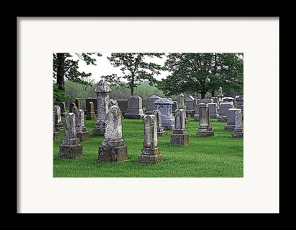 Cemetery Framed Print featuring the photograph Cemetery Grunge by Carl Perry