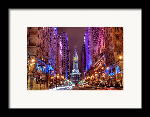 Horizontal Framed Print featuring the photograph Center City Philadelphia by Eric Bowers Photo