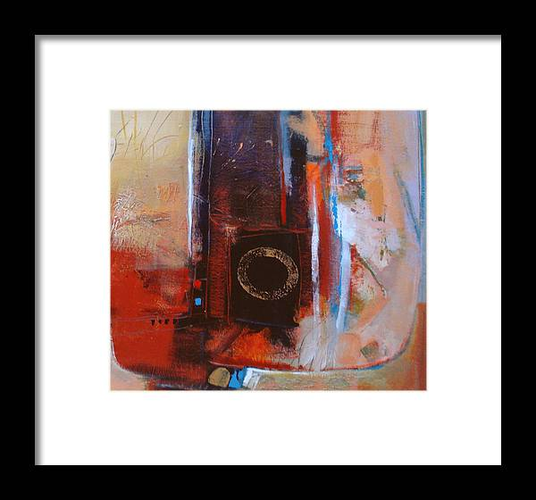 Abstract Framed Print featuring the digital art Centered Circle by Dale Witherow