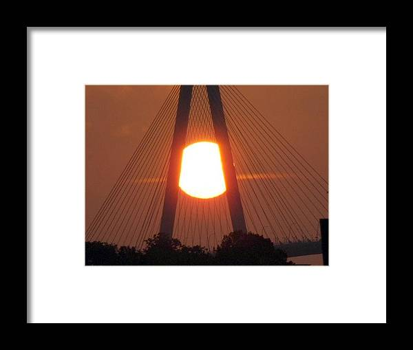 Sunset Framed Print featuring the photograph Centered by Ted Putman