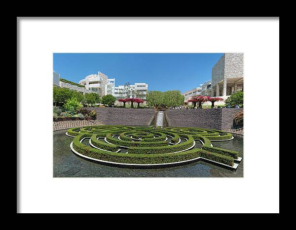 Getty Center Framed Print featuring the photograph Central Garden by Michelle Choi