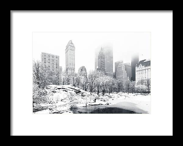 America Framed Print featuring the photograph Central Park by Mihai Andritoiu