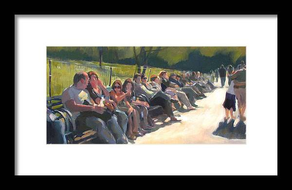 Urban Landscape Framed Print featuring the painting Central Park Pathway by Merle Keller