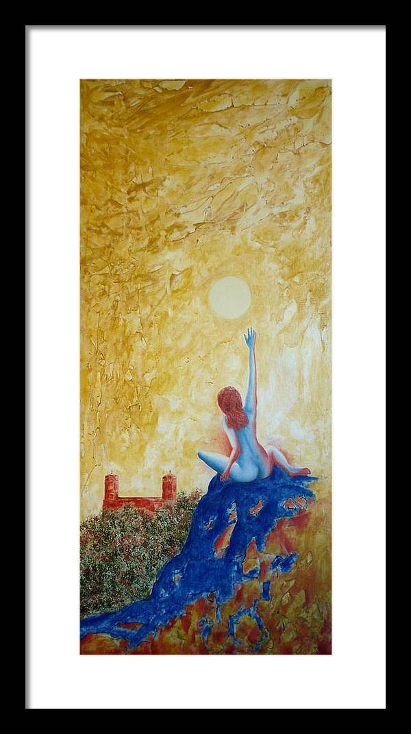 Nude Framed Print featuring the painting Central Park Venus No. 5. by Michael Price