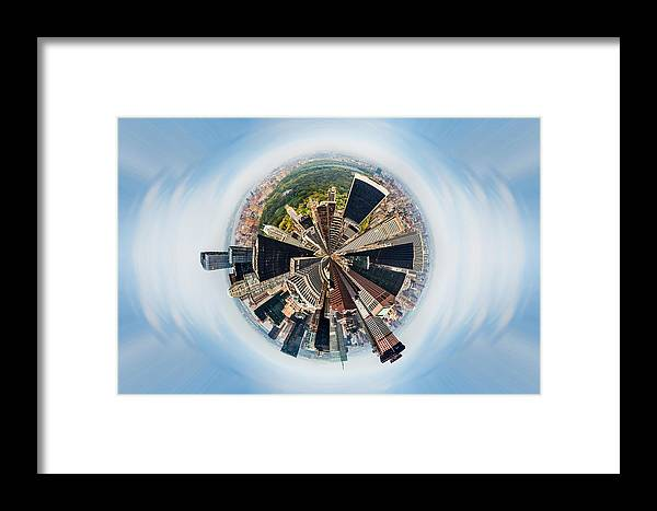 Megacity Framed Print featuring the photograph Eye Of New York by Az Jackson