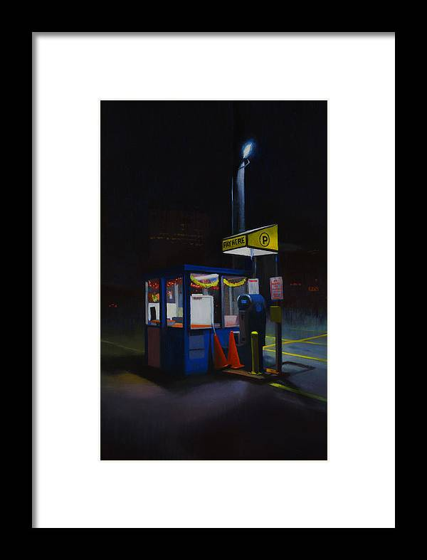 City Framed Print featuring the painting Central Parking by Brad Davis