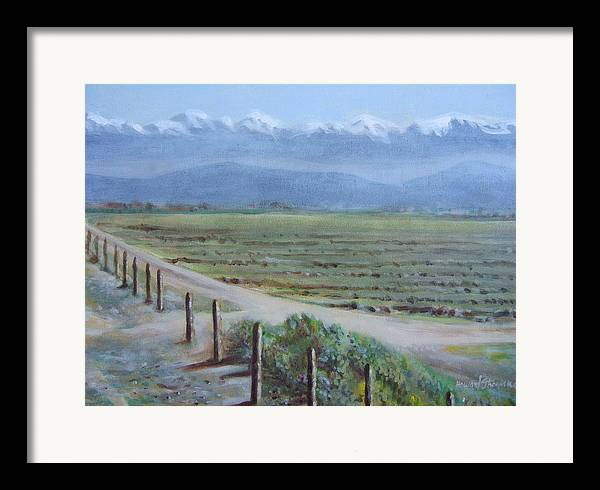 Landscape Framed Print featuring the painting Central Valley At Tulare by Howard Stroman