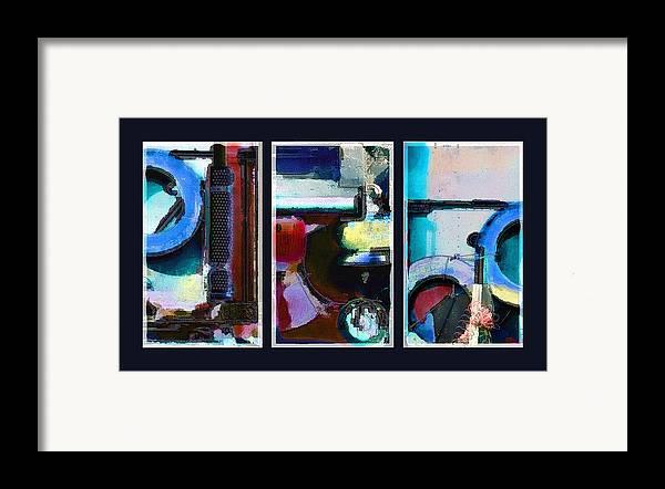 Abstract Framed Print featuring the digital art Centrifuge by Steve Karol