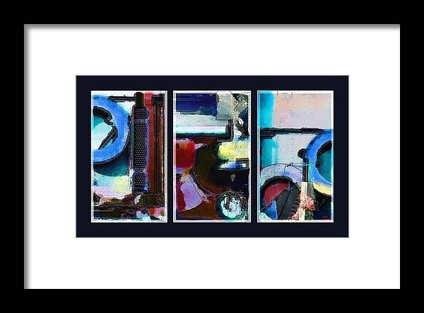 Abstract Framed Print featuring the digital art Centrifuge by Steve Karol