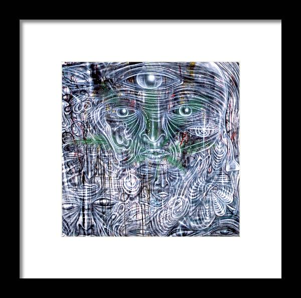 Cephalic Carnage Framed Print featuring the painting Cephalic Carnage by Leigh Odom