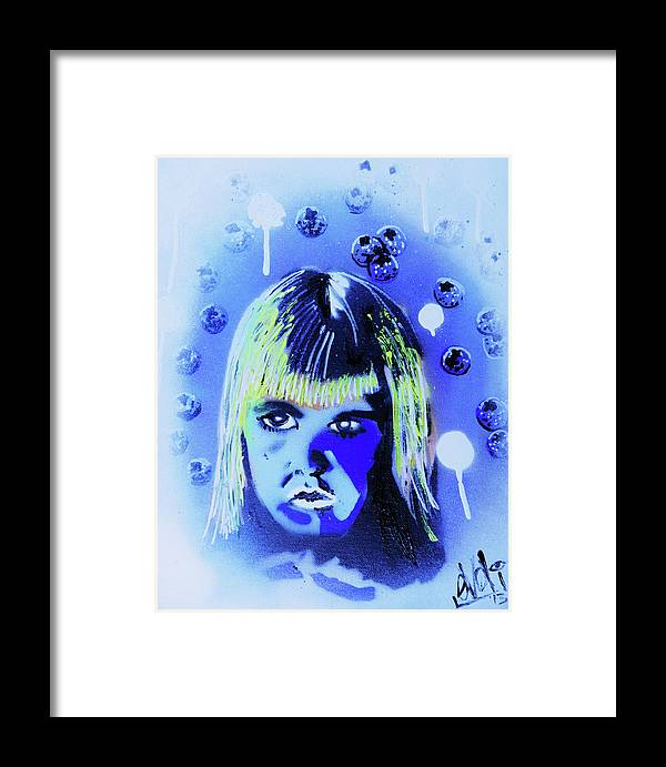 Cereal Killers Framed Print featuring the painting Cereal Killers - Boo Berry by eVol i