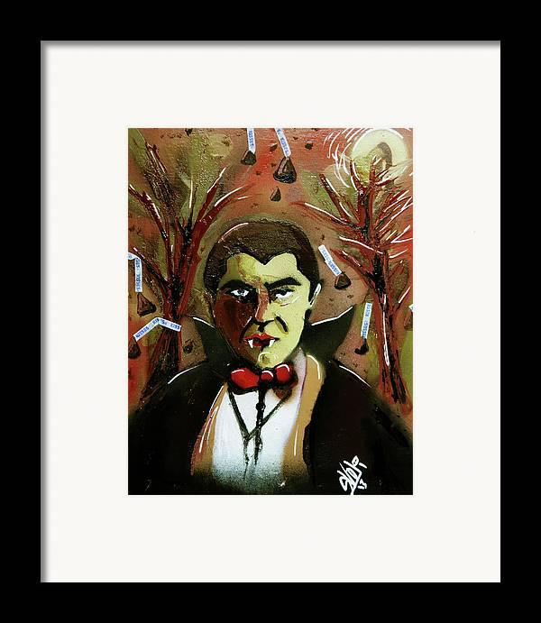 Count Chocula Framed Print featuring the painting Cereal Killers - Count Chocula by eVol i