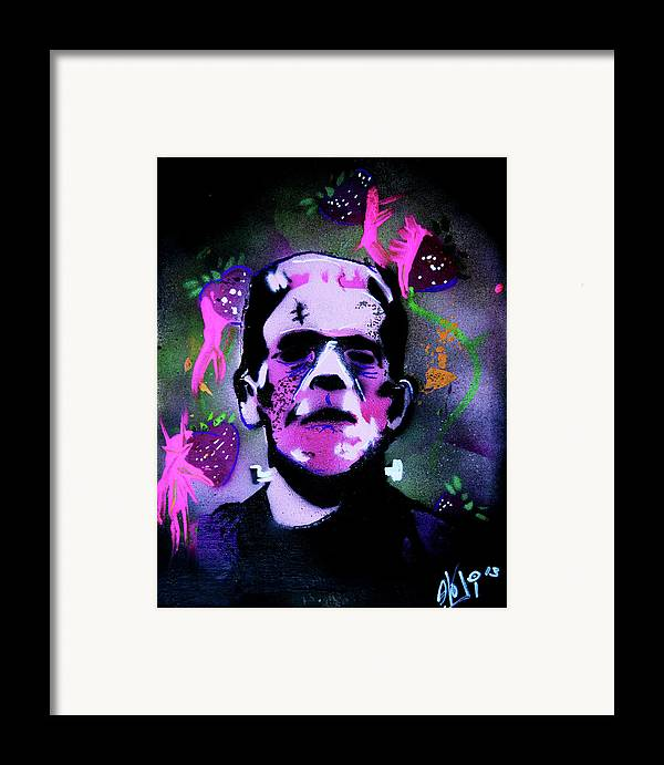 Cereal Killers Framed Print featuring the painting Cereal Killers - Frankenberry by eVol i