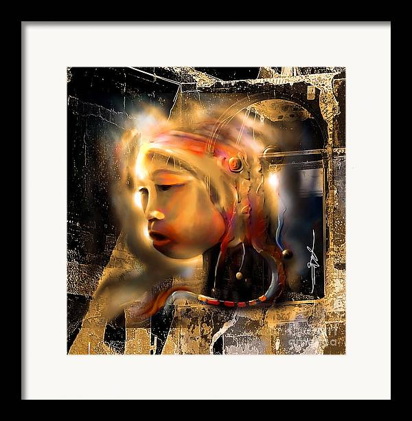 Portrait Framed Print featuring the painting Ceremonial Queen by Bob Salo