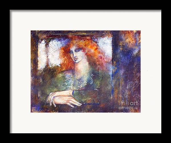 Figure Framed Print featuring the painting Cerridwen by Marne Adler