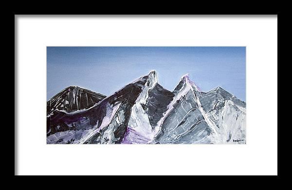 Acrylic Landscape Painting Framed Print featuring the painting Cerro De La Silla Of Monterrey Mexico by Kandyce Waltensperger