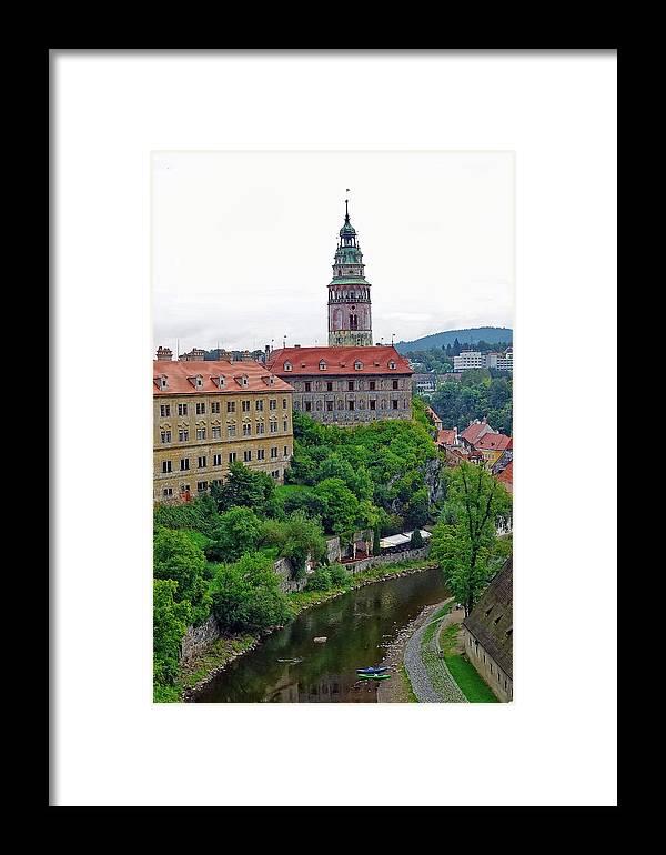 Cesky Krumlov Framed Print featuring the photograph Cesky Krumlov Castle Complex In The Czech Republic by Richard Rosenshein