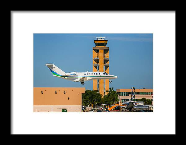 Cessna Citation Framed Print featuring the photograph Cessna Citation by Dart and Suze Humeston