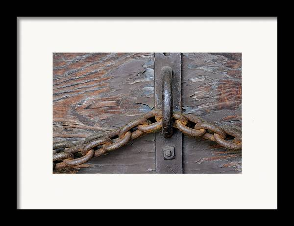 Chain Framed Print featuring the photograph Chain And Grain by Dan Holm