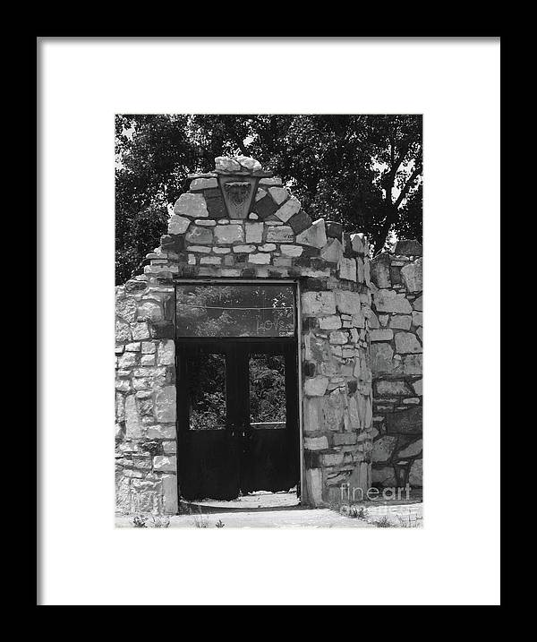 Doors Framed Print featuring the photograph Chained Doors by Elizabeth Donald