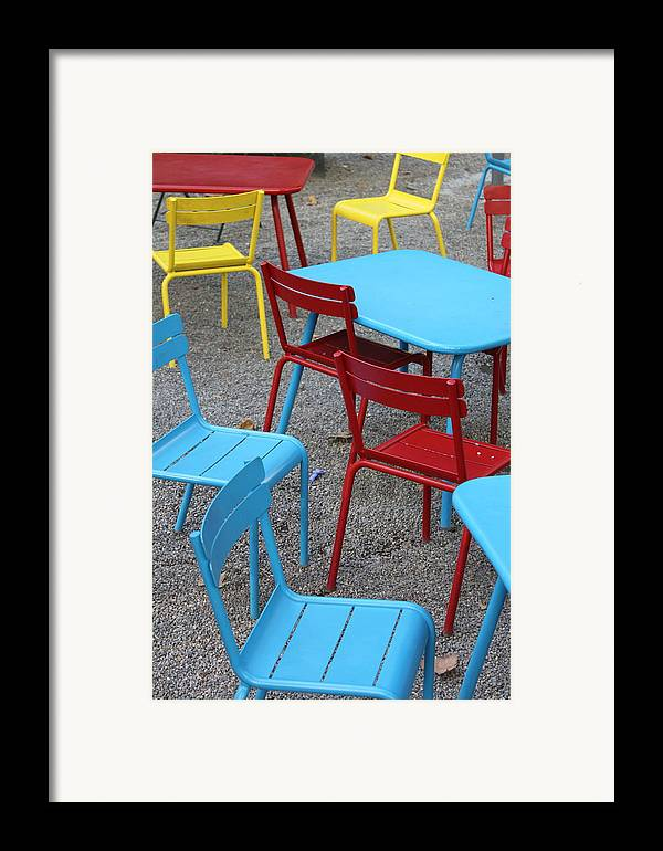 Chairs Framed Print featuring the photograph Chairs In Bryant Park by Lauri Novak