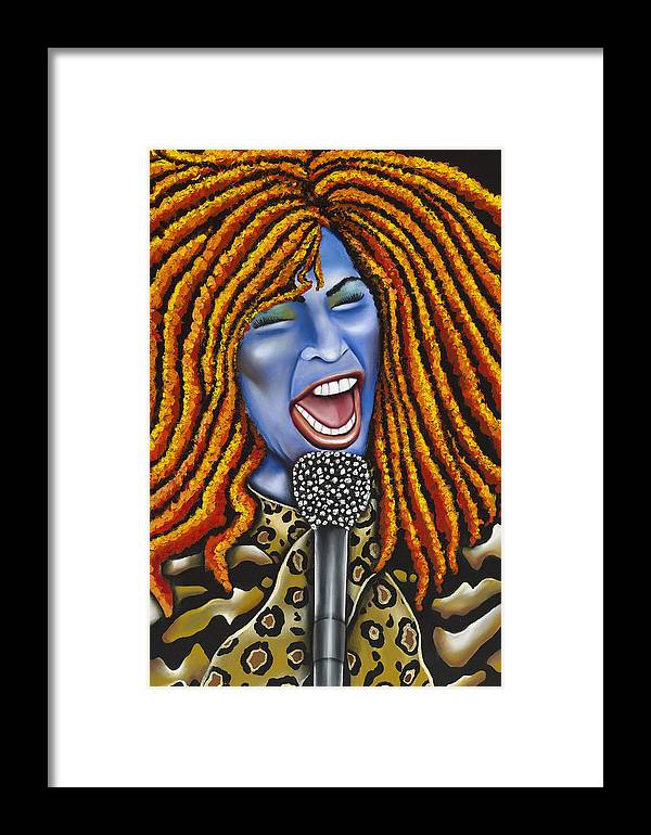 Portrait Framed Print featuring the painting Chaka by Nannette Harris